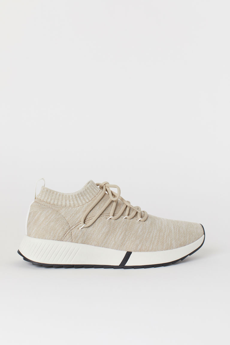 Fully-fashioned trainers - Beige marl - Men | H&M