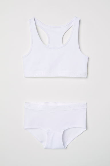 Top and boxer briefs - White - Kids | H&M