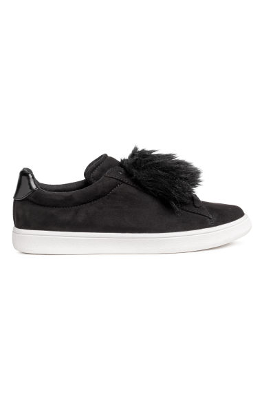 Trainers with faux fur - Black -  | H&M GB