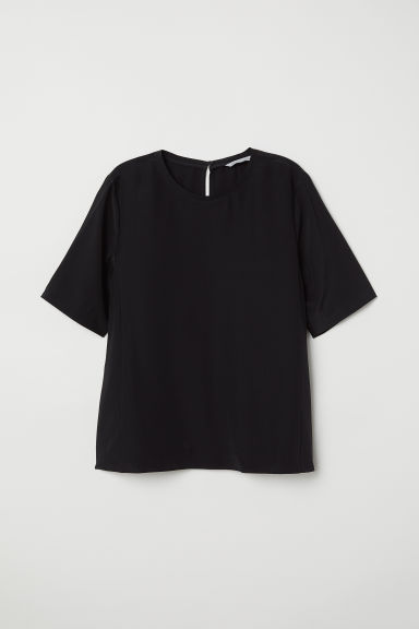 Silk top - Black - Ladies | H&M