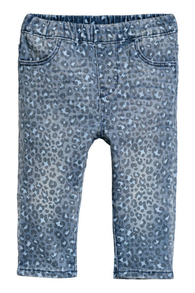 Treggings - Denim blue/Leopard print -  | H&M CN