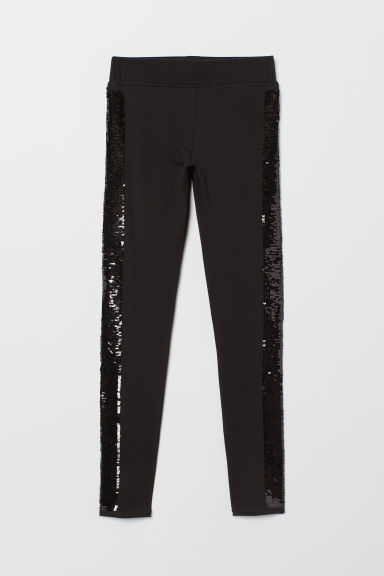 Leggings in sturdy jersey - Black - Kids | H&M CN