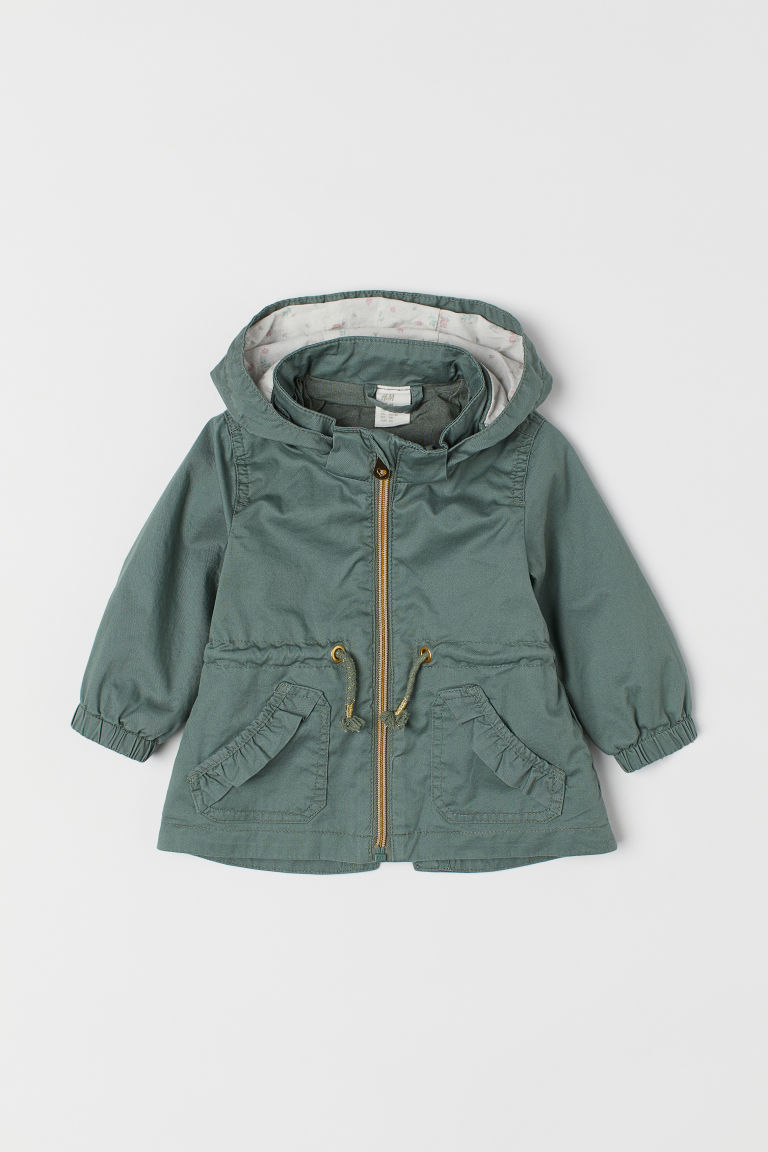 Cotton parka - Green - Kids | H&M GB