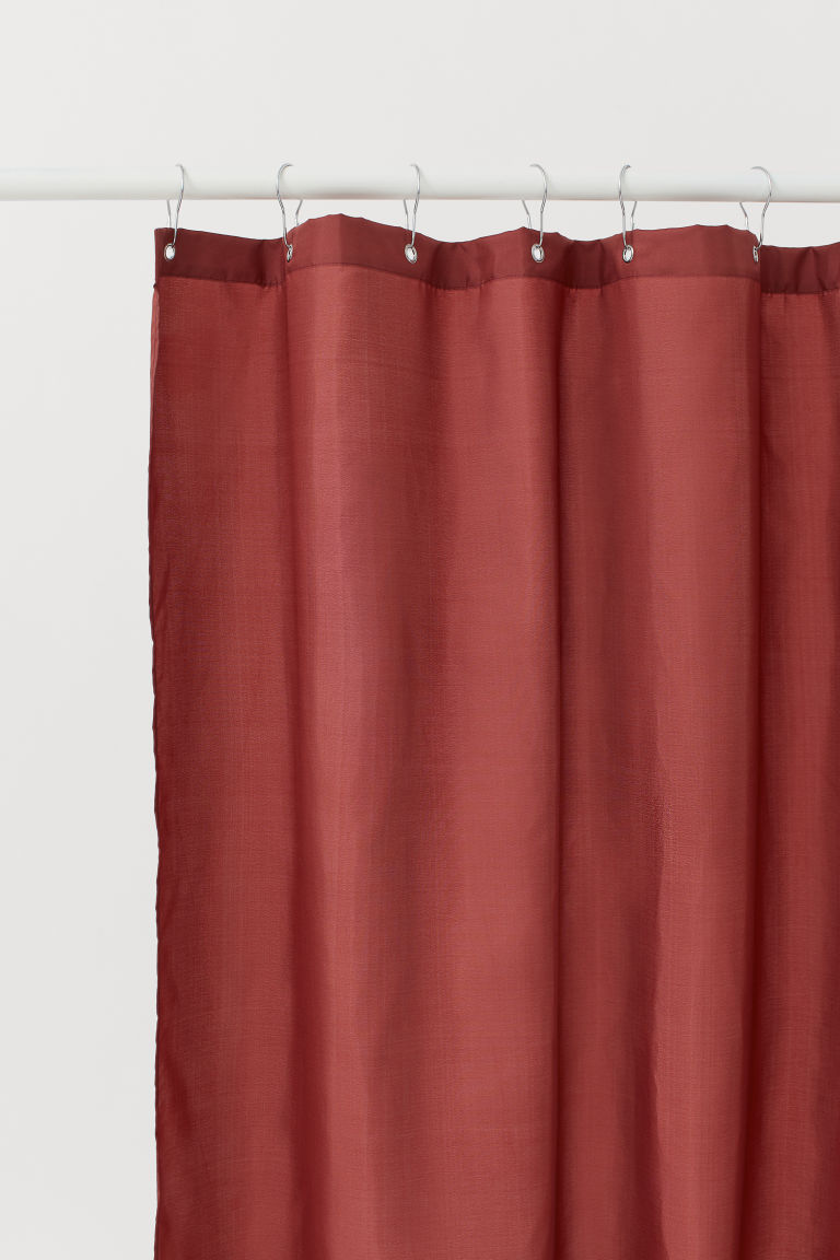 Shower curtain - Dark red - Home All | H&M GB