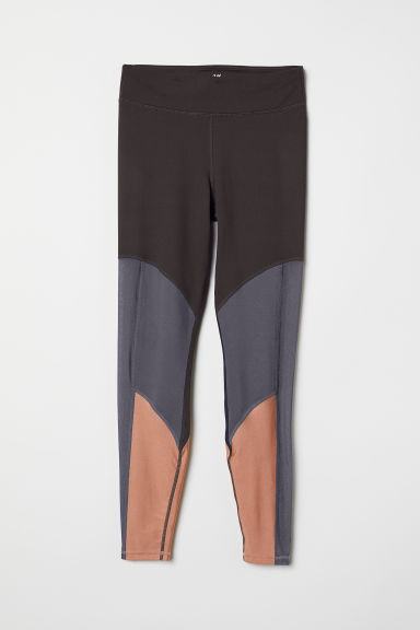 Yoga tights - Dark grey - Ladies | H&M CN