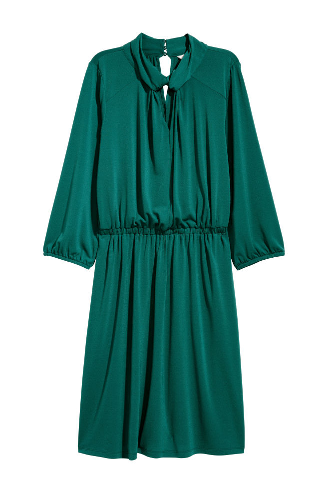 cc8e90782d41 Jersey dress - Emerald green - Ladies | H&M ...