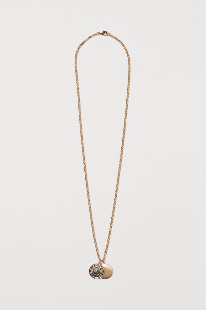 19763bfe873 Collier avec pendentifs - Doré - HOMME