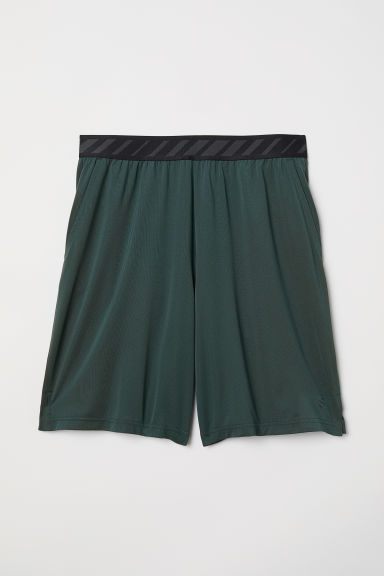Short sports shorts - Dark green - Men | H&M