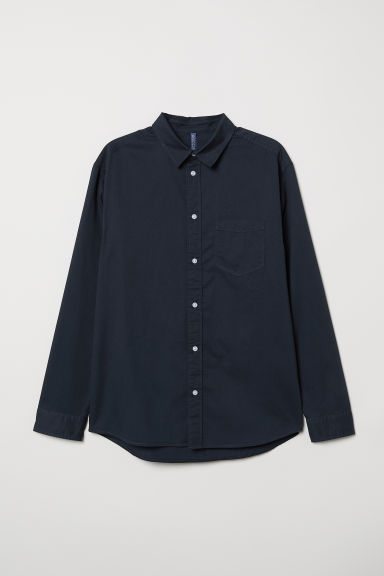 Cotton shirt - Dark blue - Men | H&M