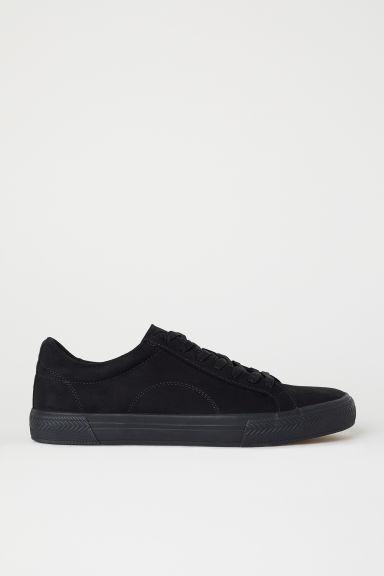 Imitation suede trainers - Black - Men | H&M