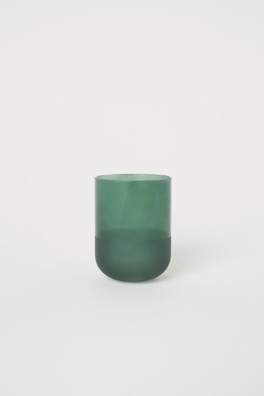 Glass toothbrush mug - Dark green -  | H&M CN
