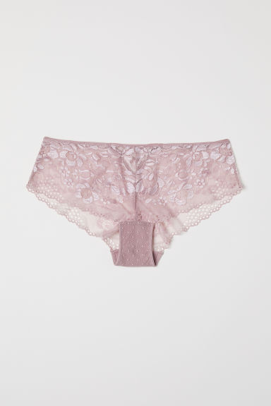 Lace hipster briefs - Powder pink - Ladies | H&M