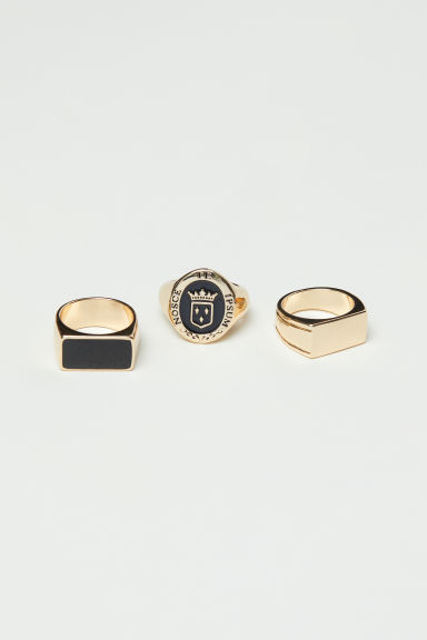 3-pack rings - Gold-coloured - Men | H&M CN