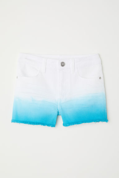 Twill shorts - Turquoise/White - Kids | H&M