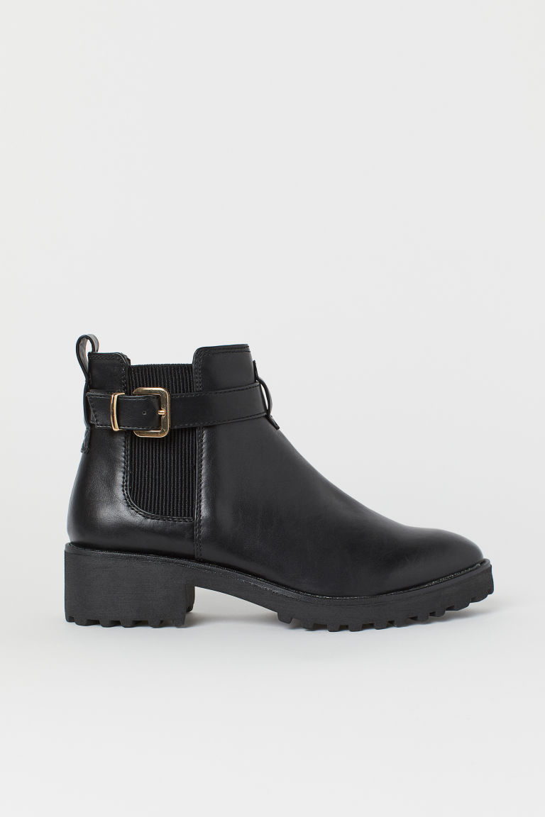 Chelsea Boots with Strap - Black - Ladies | H&M US