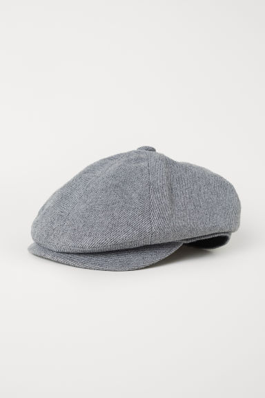 Flat cap - Grey/Narrow striped - Men | H&M