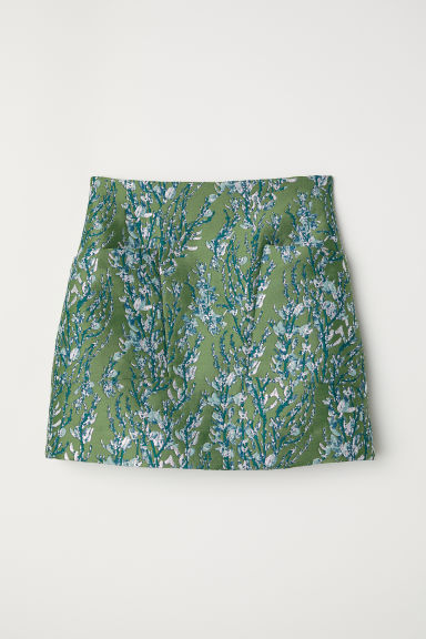 Jacquard-weave Skirt - Green/patterned - Ladies | H&M CA