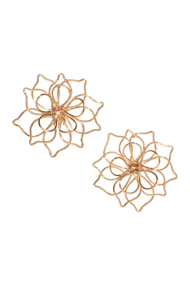Flower-shaped earrings - Gold-coloured - Ladies | H&M