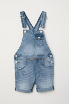 Denim salopetteshort