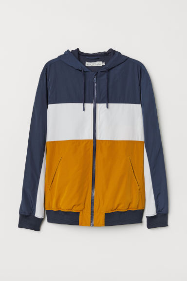 Windbreaker - Dark blue/Multicoloured - Men | H&M