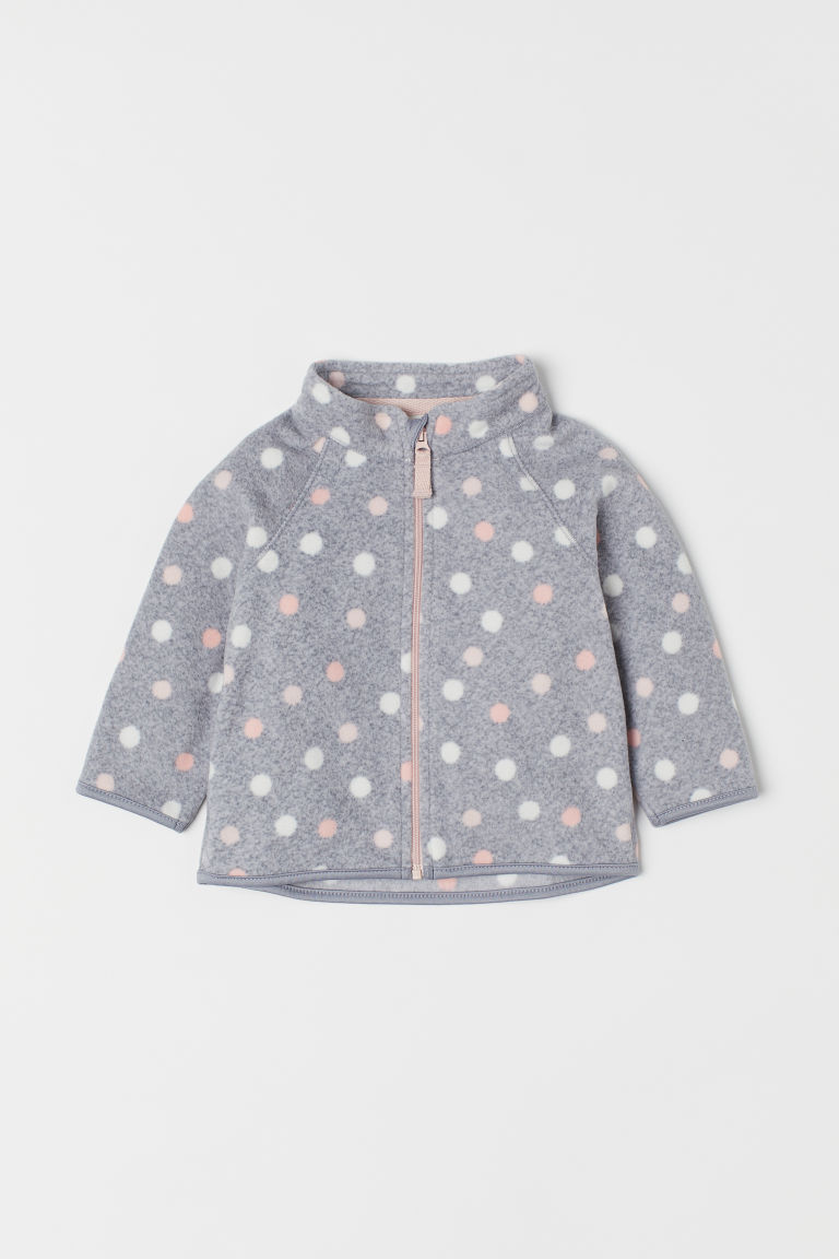 Fleece jacket - Grey marl/Spotted -  | H&M CN
