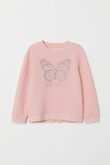 Sweatshirt - Light pink/Butterfly - Kids | H&M