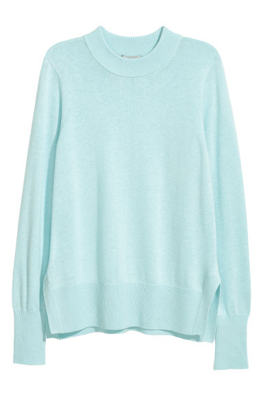 Fine-knit jumper - Light turquoise -  | H&M
