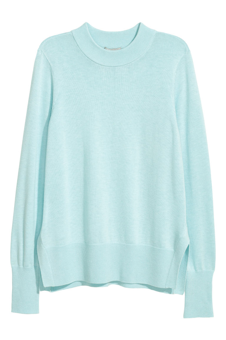 Fine-knit Sweater - Light turquoise - Ladies | H&M US