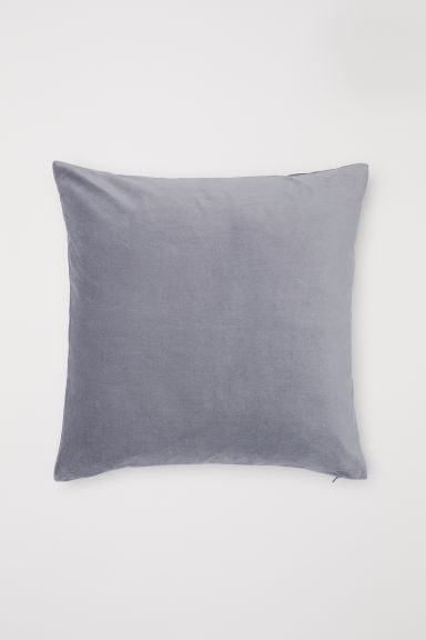 Cotton velvet cushion cover - Grey - Home All | H&M CN