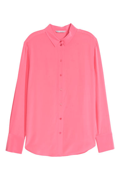 Silk shirt - Coral pink - Ladies | H&M