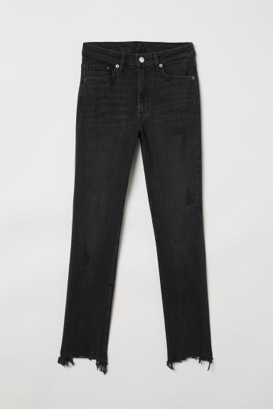 Skinny High Ankle Jeans - Black - Ladies | H&M