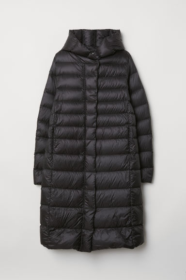 Down coat with a hood - Black - Ladies | H&M