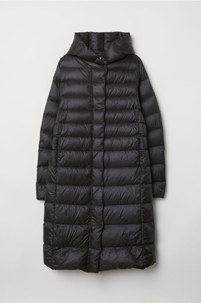 c514974c4b Down Coat with Hood - Black - Ladies | H&M ...