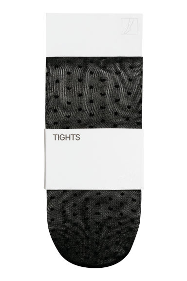 Patterned tights - Black/Spotted - Kids | H&M CN