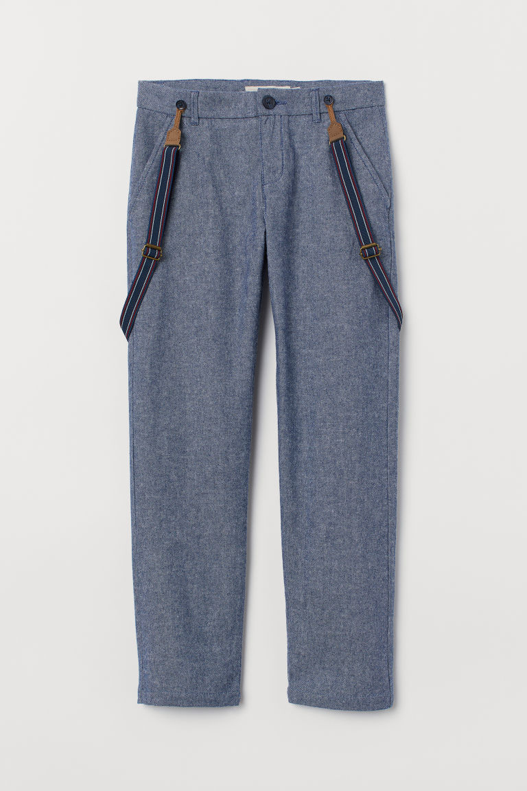 Trousers with braces - Blue marl - Kids | H&M CN