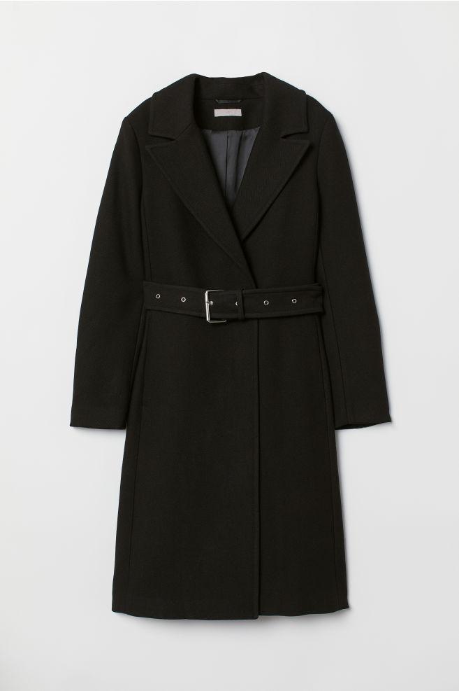 Płaszcz z paskiem - Czarny - ONA | H&M PL 6