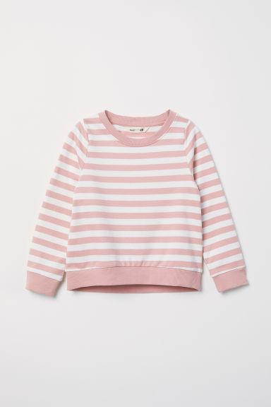 Printed sweatshirt - Powder pink/Striped - Kids | H&M