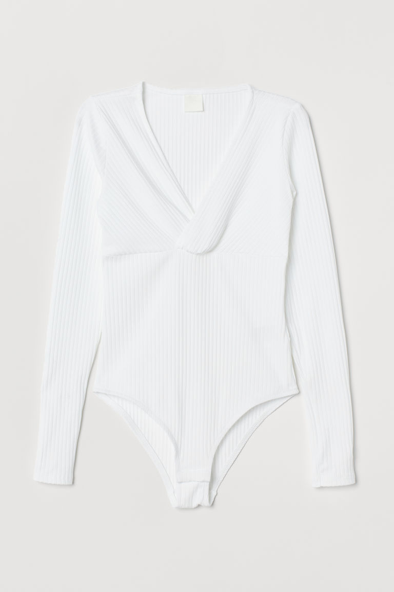 V-neck body - White - Ladies | H&M
