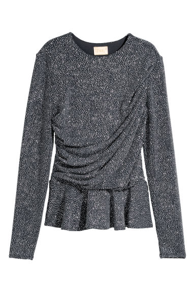 Glittery top - Grey/Glittery - Ladies | H&M IE