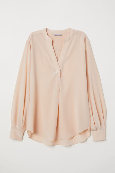 Silk blouse - Apricot - Ladies | H&M