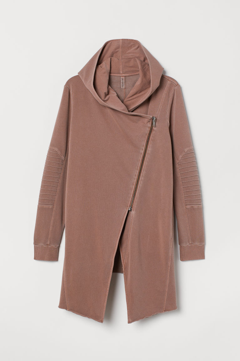 H&M+ Hooded cardigan - Vintage pink - Ladies | H&M CN