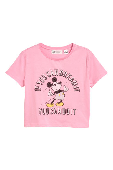 Printed T-shirt - Pink/Mickey Mouse - Kids | H&M