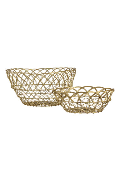 Large wire basket - Gold-coloured - Home All | H&M GB