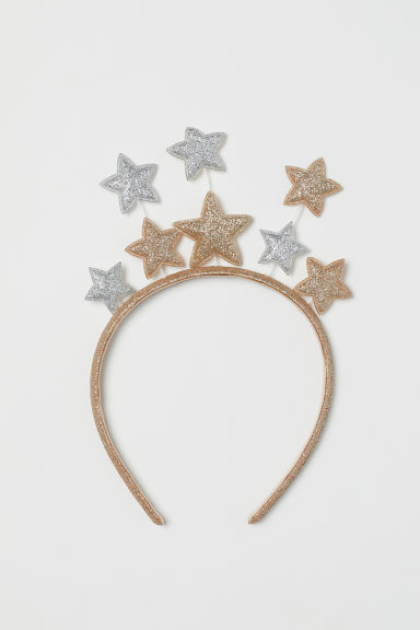 Alice band with stars - Gold-coloured/Silver-coloured - Kids | H&M
