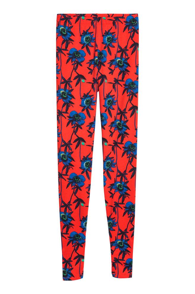 c35836764b240 Patterned leggings - Red/Floral - Ladies   H&M ...