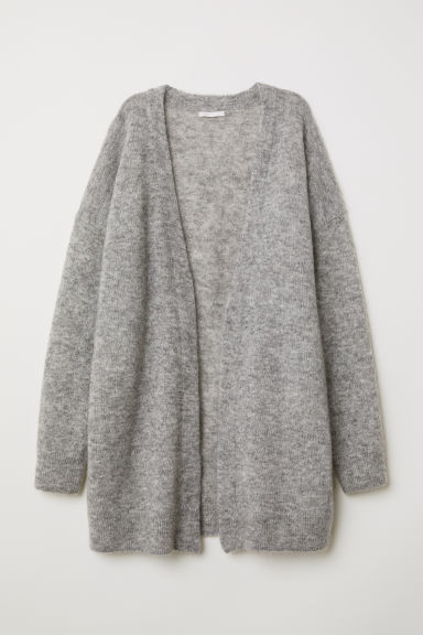 Cardigan aus Mohairmischung - Hellgraumeliert - Ladies | H&M AT