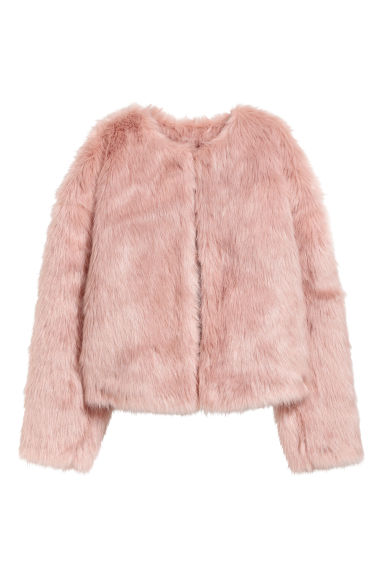 Faux fur jacket - Old rose/Unicorn -  | H&M IE