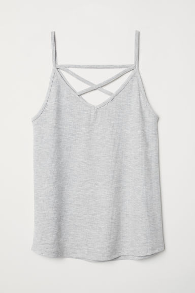 Sleeveless top - Grey marl -  | H&M CN