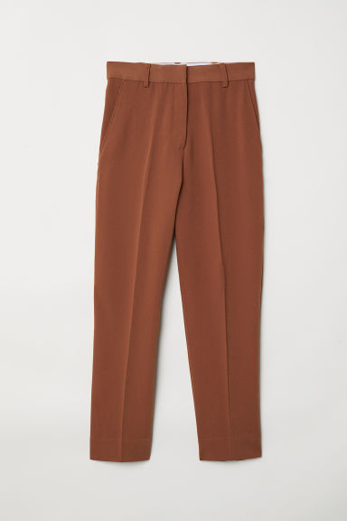 Ankle-length suit trousers - Brown - Ladies | H&M