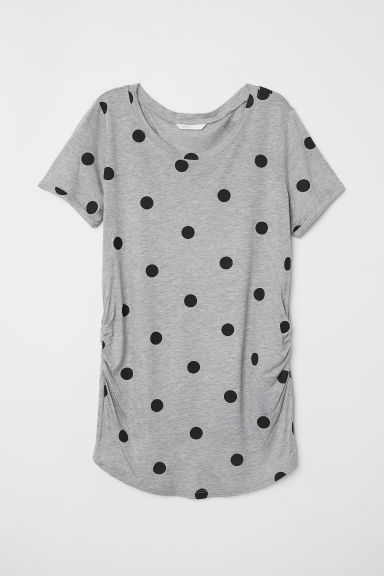 MAMA Top in jersey - Grigio/pois -  | H&M IT